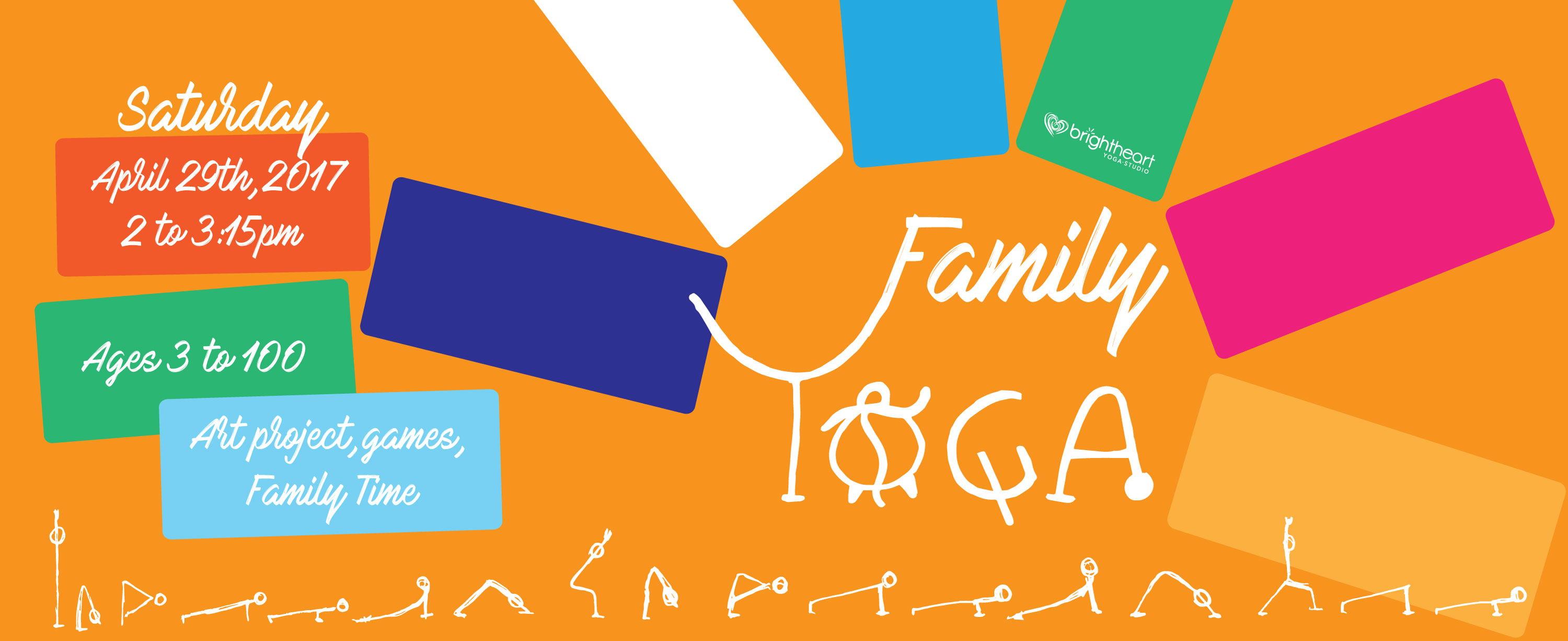 Family Yoga Banner O Bright Heart Studio